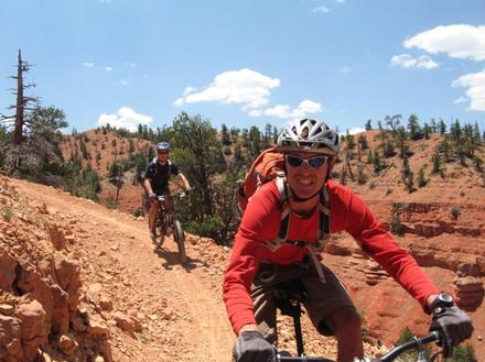 Riding near Bryce Canyon National Park